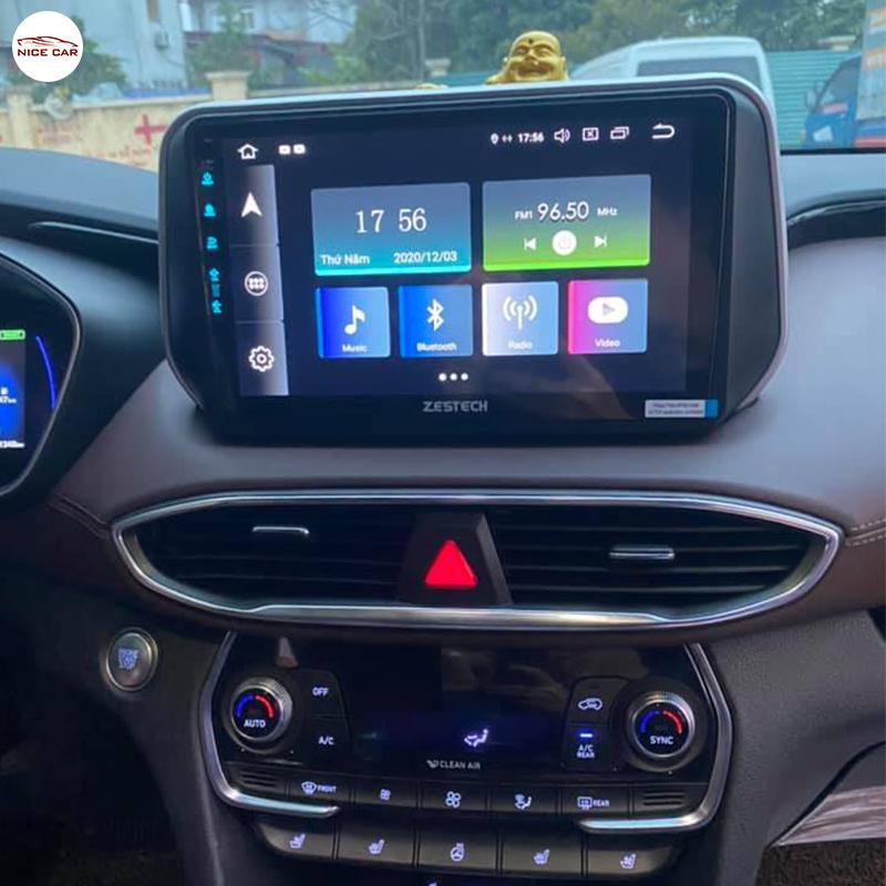 Man hinh Android xe Hyundai Santafe 2020