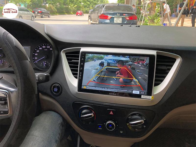Man hinh Android xe Hyundai Accent 2021