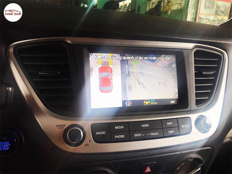 Camera 360 do xe Hyundai Accent 2021