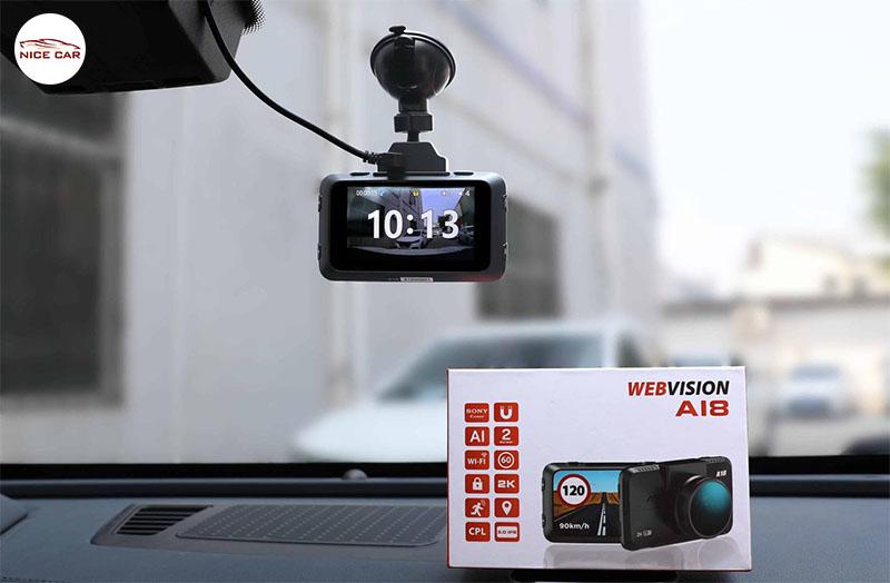 Camera Hành Trình Webvision A18 Cảnh Báo Tốc Độ Hữu Ích !